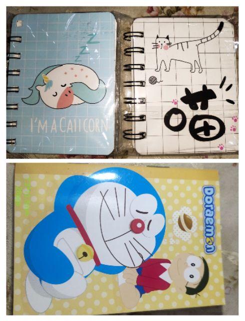 🆕📖Cartoon Spiral Notebook (80pg)/ doreamon