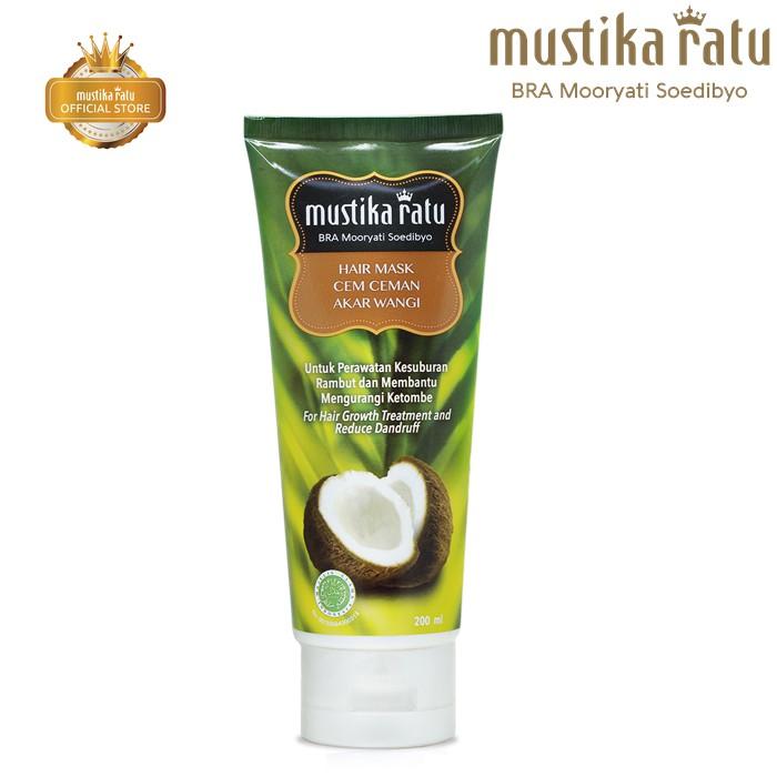 Mustika Ratu Masker Cem-Ceman For Hair Growth & Reduce Dandruff (200ml)