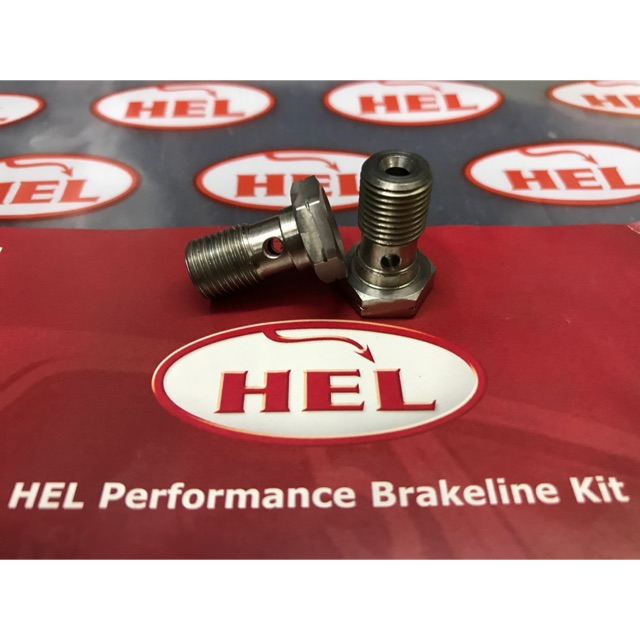 M10 x 1.00 HEL Stainless Steel Single Banjo Bolt with Bleed Nipple