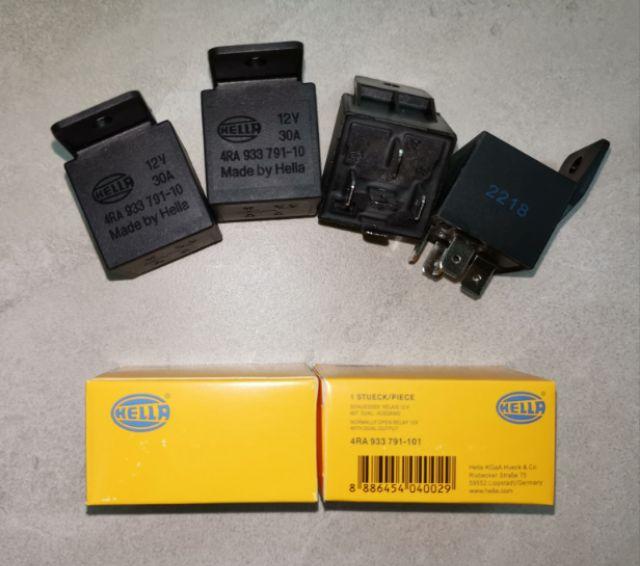 ORIGINAL HELLA 12V 4Pin Power Relay, Lamp Relay, Aircond Relay