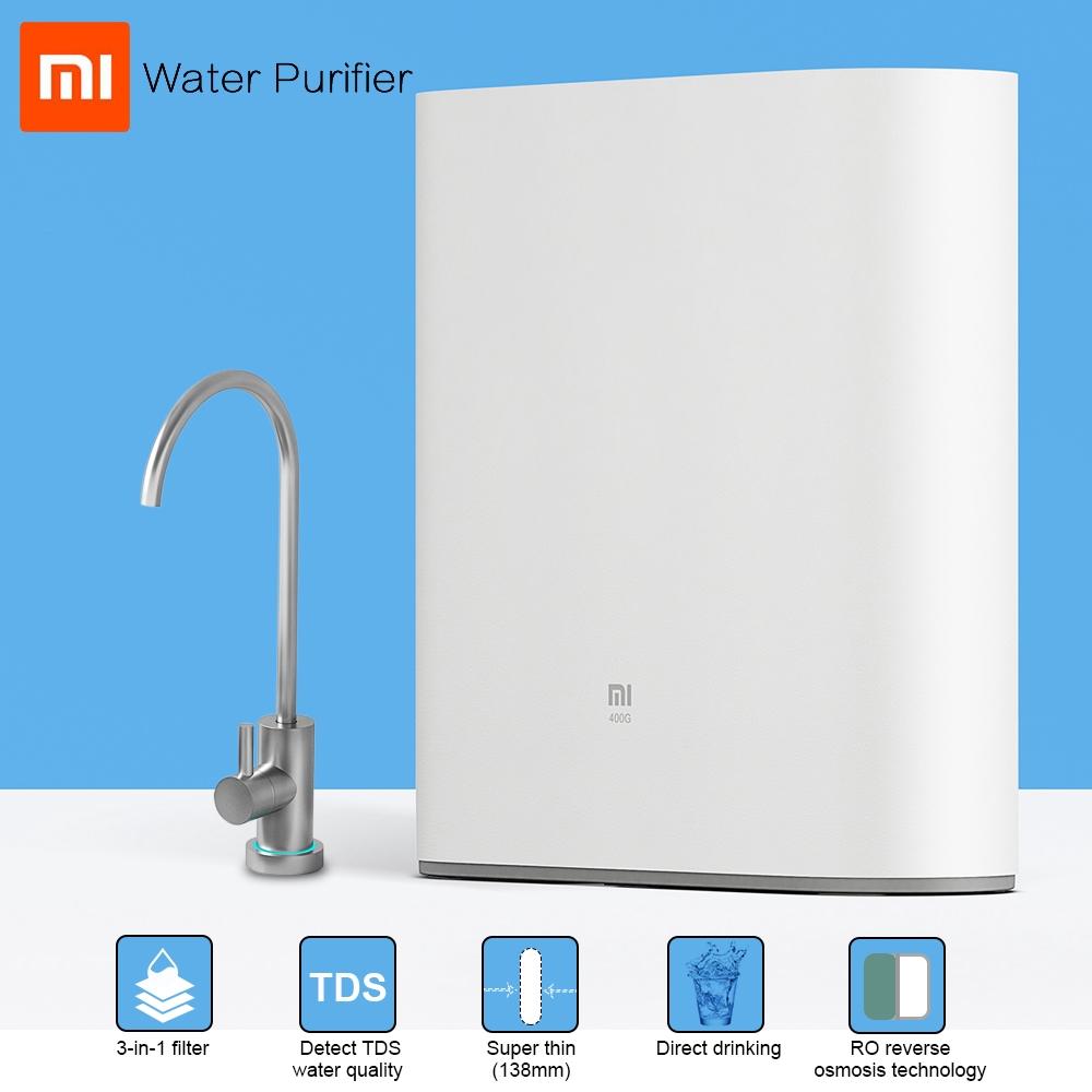 3cofficialstore Xiaomi Smart Water Purifier APP Connect Osmosis Filter & Faucet