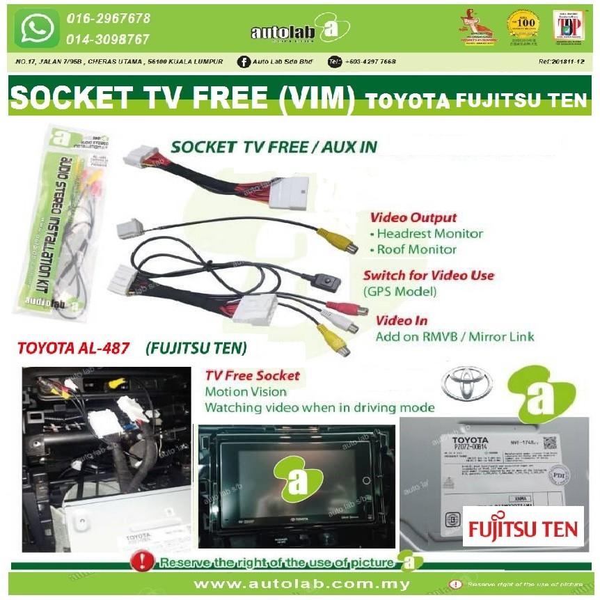 Socket TV Free (Bypass VIM) Toyota Fujitsu Ten Player AL-487