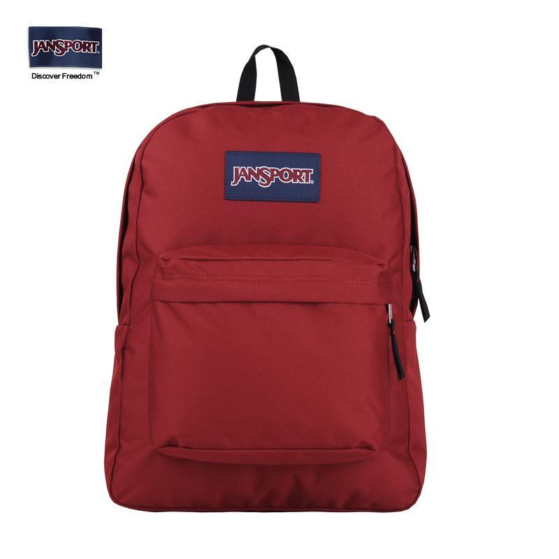 JESPER Unisex Solid Backpack School Travel Bag Double Shoulder Bag Zipper Bag Sky Blue