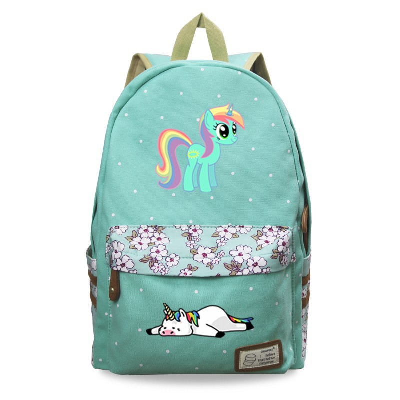 3b7752be6d0 Fashion Cartoon Unicorn Backpack School Bags Student Bookbag Shoulder  Laptop Travel bag