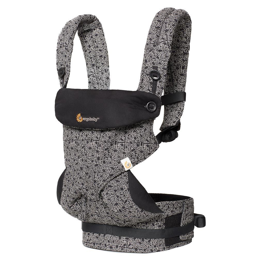 a4c5ee19ebc Authentic ERGObaby 4 Position 360 Carrier Limited Edition Keith Haring -  Black