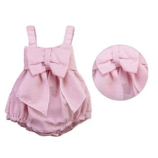c4045764d09a8 Summer Newborn Cute Striped Bubble yarn Pink Baby Dress newborn baby ...