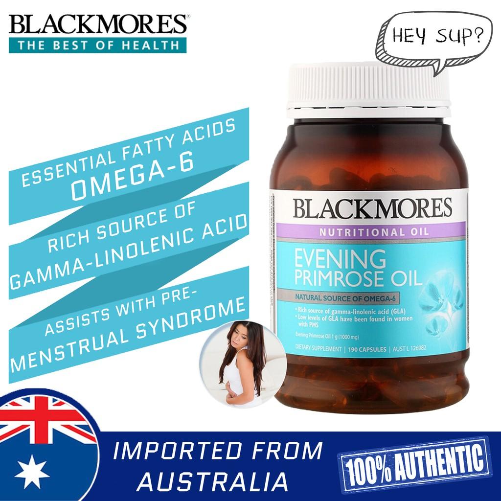 Blackmores Evening Primrose Oil 1000mg 190 Capsules (Natural Source Of Omega-6) | Shopee Malaysia