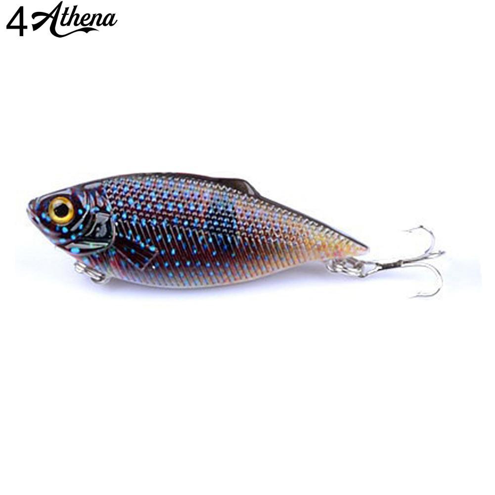6pcs Lot VIB Fishing Lures Colorful Bait 3DEye Plastic Fishing Tackle 6.5cm//7.7g