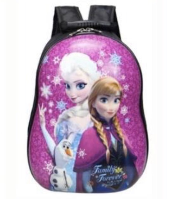 Disney Frozen & Spiderman Backpack With Complete Stationary Set Gift For Kids