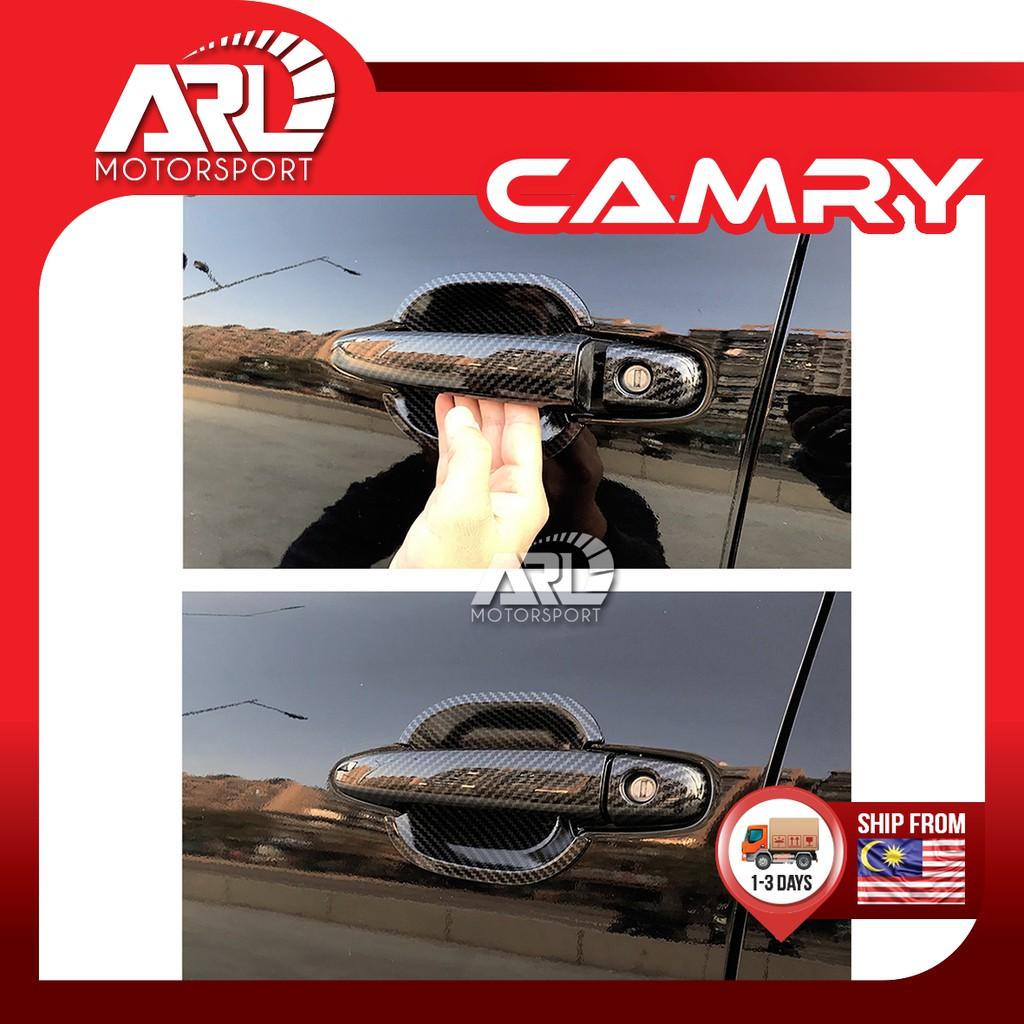 Toyota Camry (2006 - 2011) XV40 Door Handle Protector Cover Carbon Fiber Design Car Auto Acccessories ARL Motorsport