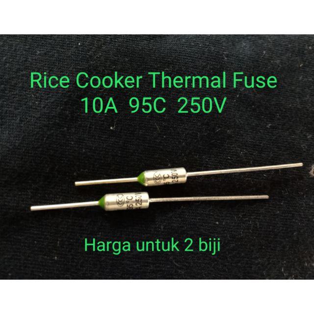 2 Biji 10A 95C 250V Rice Cooker Thermal Fuse