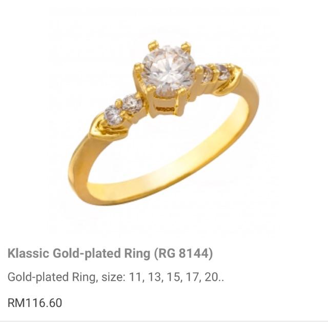 Zhulian Gold Plated Ring Rg 8191 Shopee Malaysia
