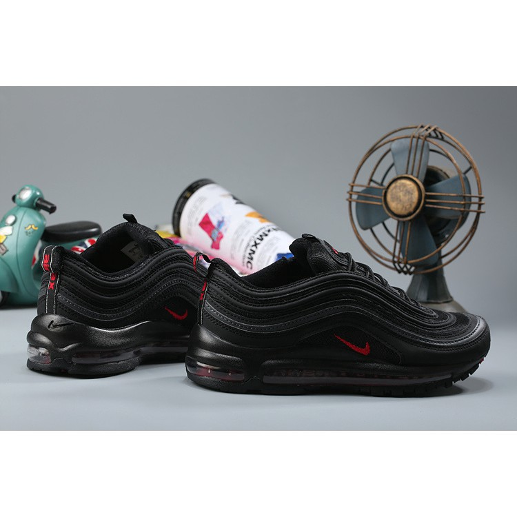 hacha Violeta Plausible  Available Nike Air Max 97 OG QS Black Red | Shopee Malaysia