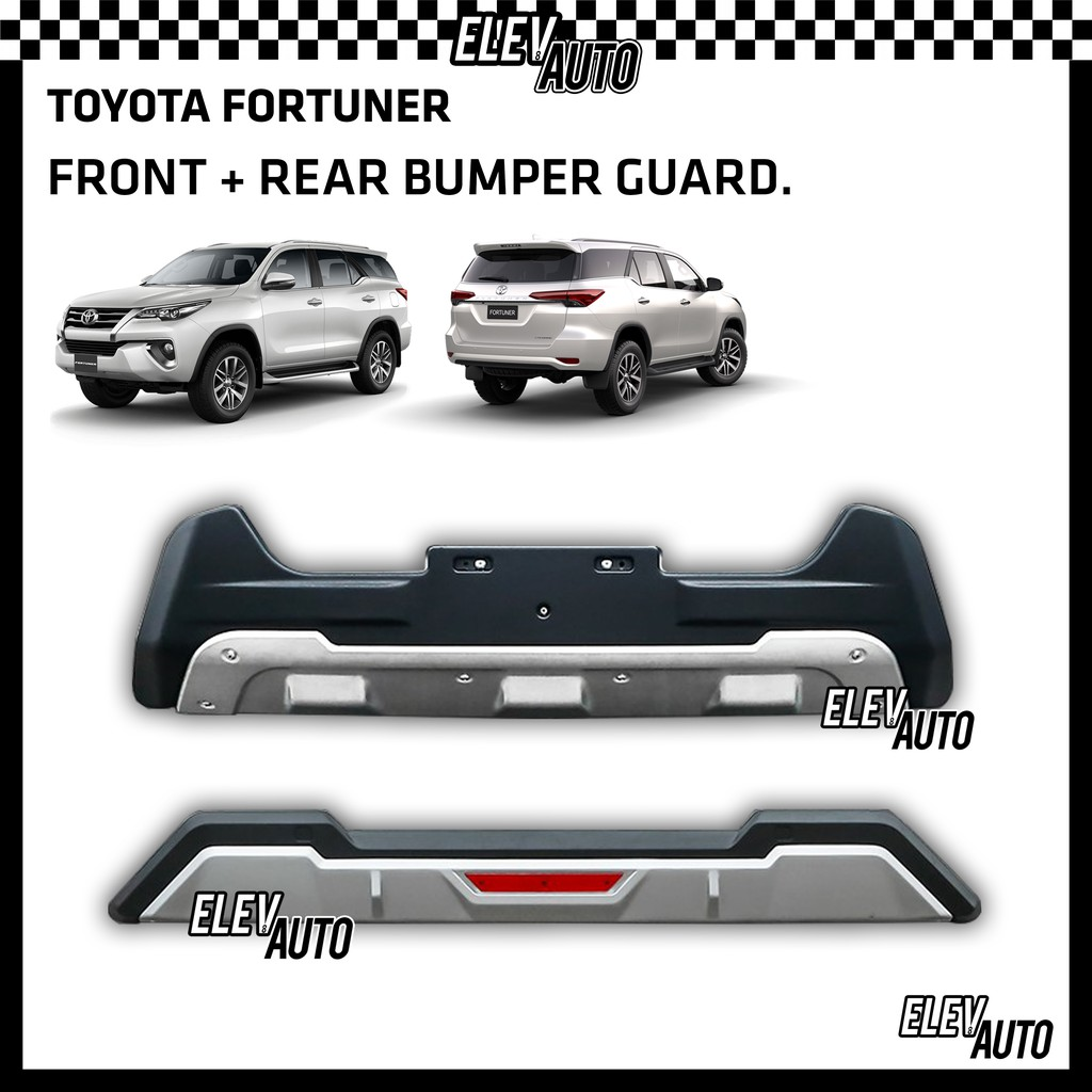 Toyota Fortuner 2016-2020 Front & Rear Bumper Guard