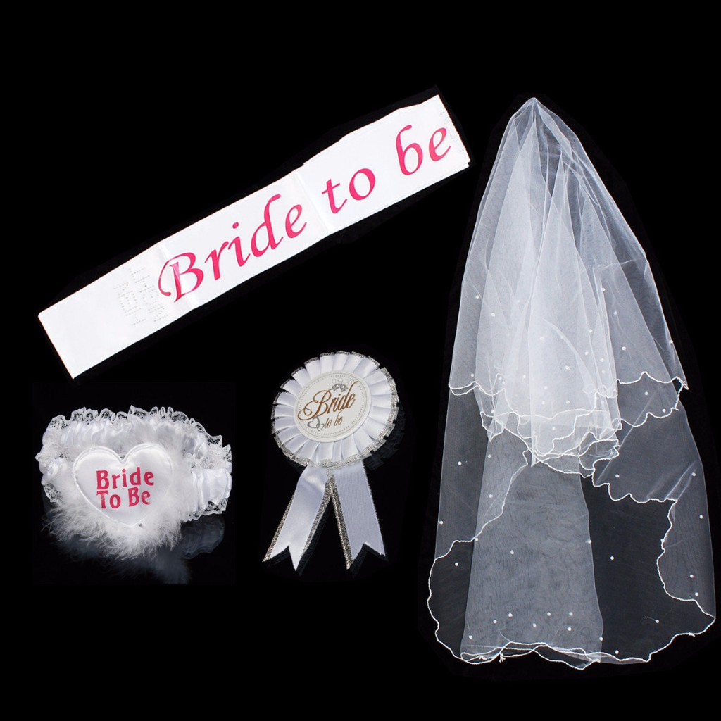 bride to be sash badge veil sets hen night party bachelor shopee
