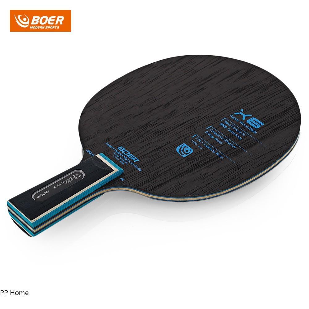 BOER X6 Carbon Fiber Table Tennis Racket Anti-slip Ping Pong