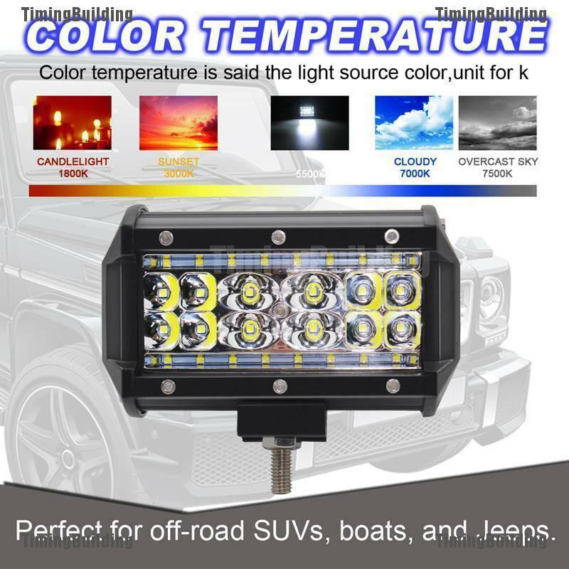 """2x 5/""""INCH 84W LED Work Light Bar Flood Pods Driving Off Road Tractor 4WD ATV 12V"""