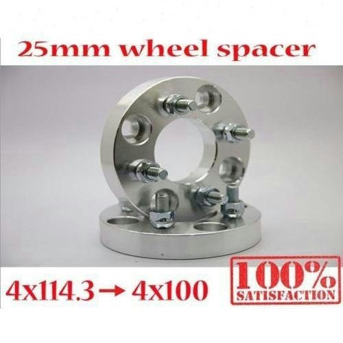 Thick 4x100 to 4x114.3 Wheel Adapters Spacers Converter M12x1.5 Studs 25mm 1/""