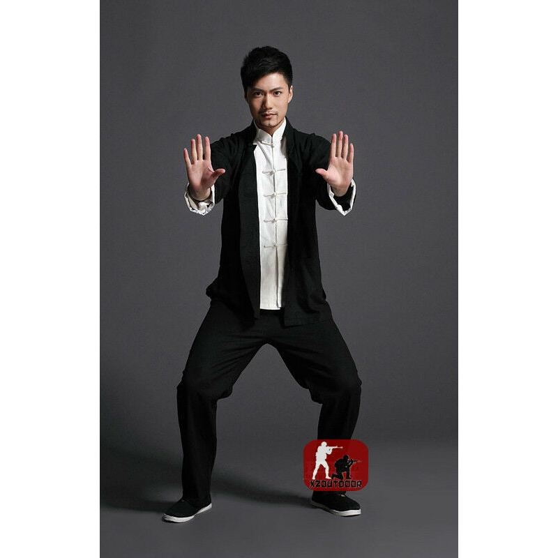 3pcs Wing Chun Kung Fu Outfits Uniform Bruce Lee Costume Martial Arts Clothing