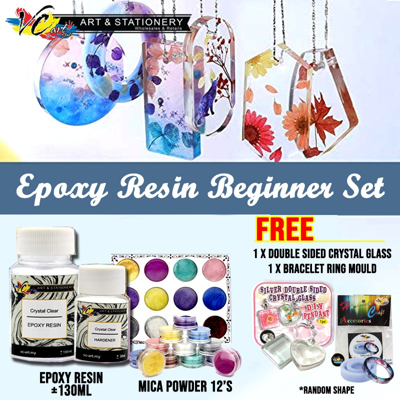 Craft  E**Ready Stock** Epoxy Resin Beginner Set for Kids (Non-Toxic)