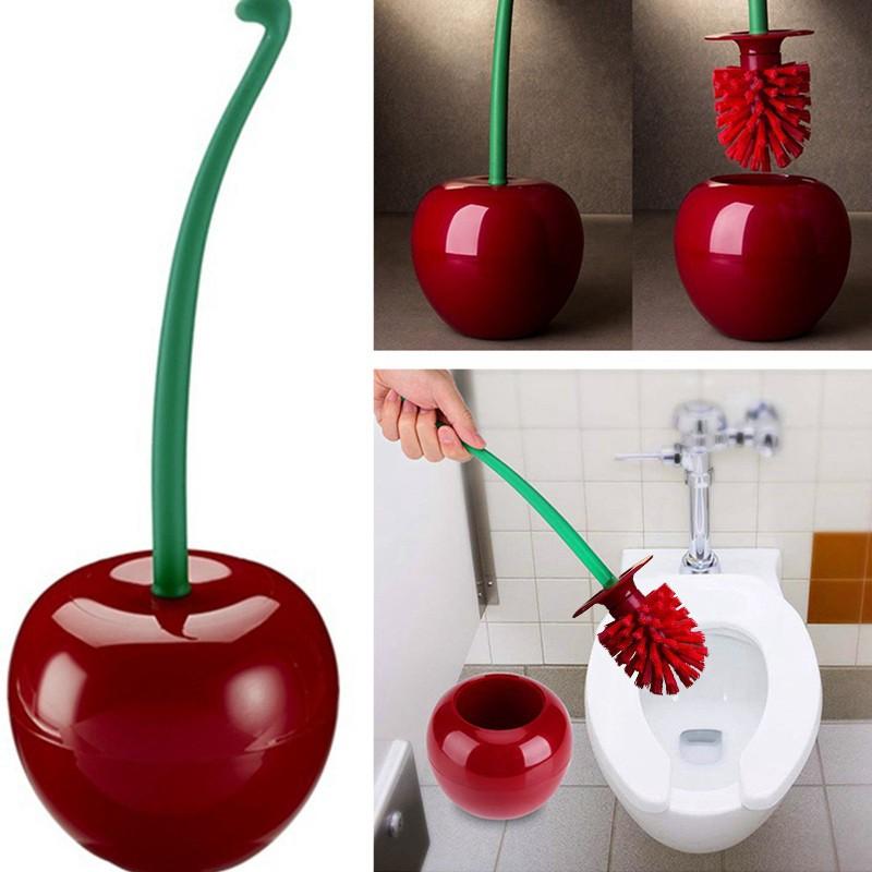 Cherry Toilet Brush Set Cherry Shape Lavatory Brush Toilet Brush & Holder  Set | Shopee Malaysia