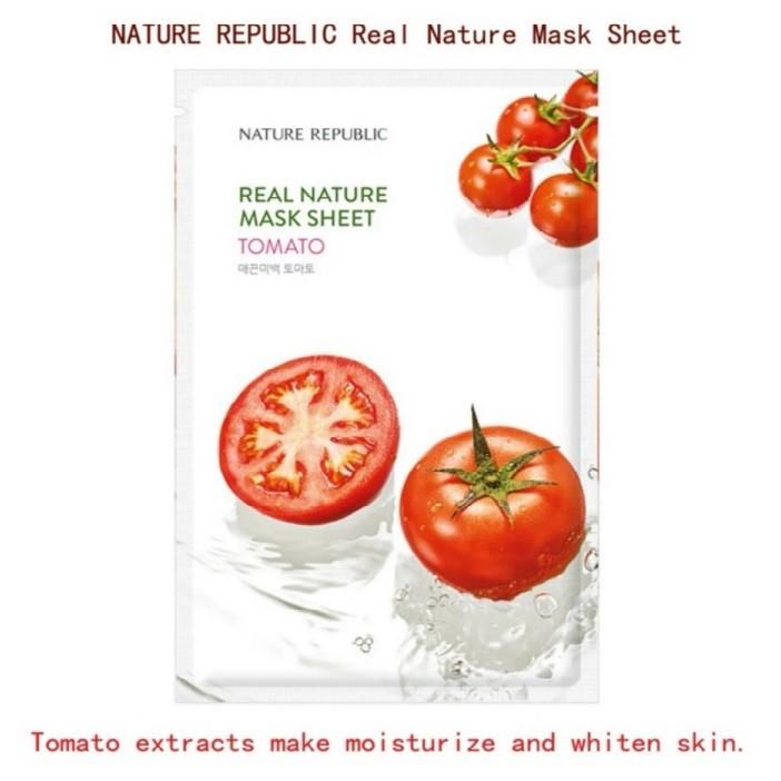 [ READY STOCK ]  Korea Nature Republic Real Nature Face Mask Sheet Facial Mask Face Set Jualan Murah Lotion Makeup Serum
