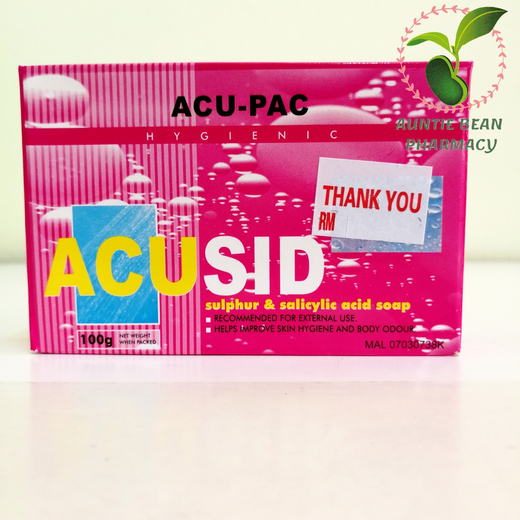 ACU-PAC ACUSID SULPHUR & SALICYLIC ACID SOAP 100G