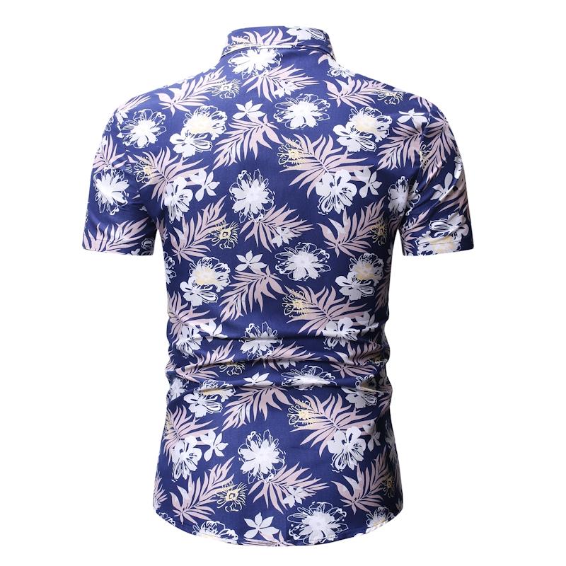 Men Hawaii Holiday Summer Floral Blouse Shirt Top Suit Sets Black Pants 12 Color