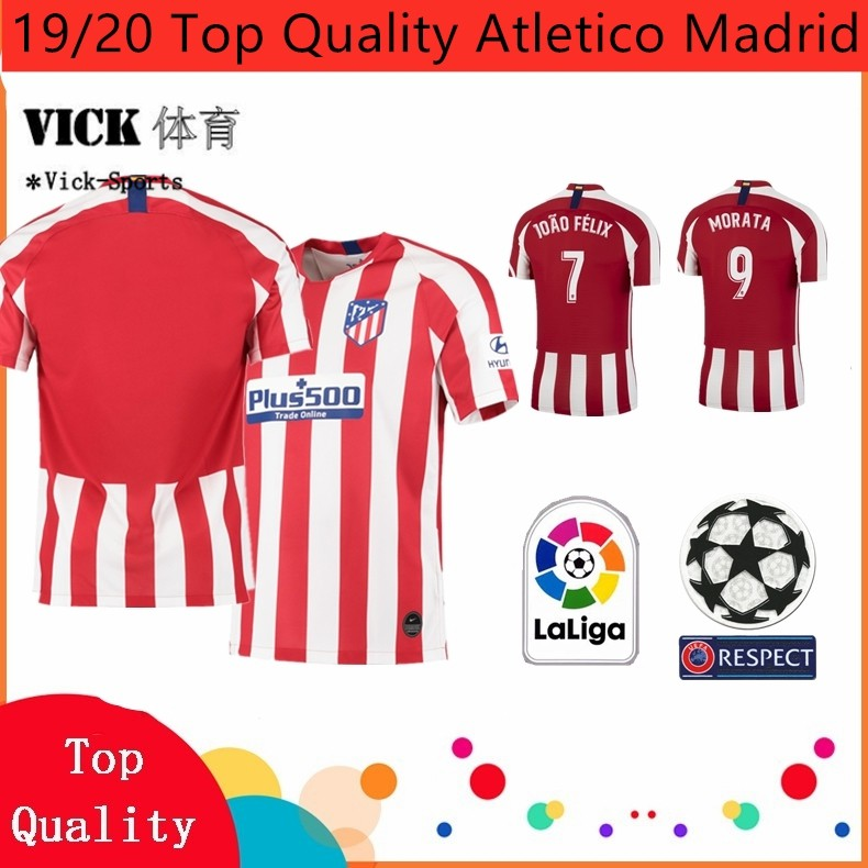Vicksports19 20 Top Quality Jersey Atletico Madrid Home Away 3rd Jersi Training Wear Shirt Football Jersi Shopee Malaysia