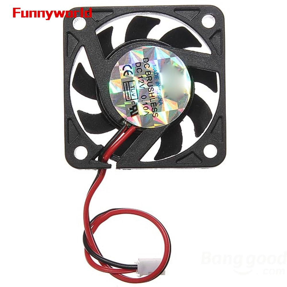 2pcs DC 12V 2Pin 40mm 10mm Brushless PC Computer Chassis Cooler Cooling IDE Fan