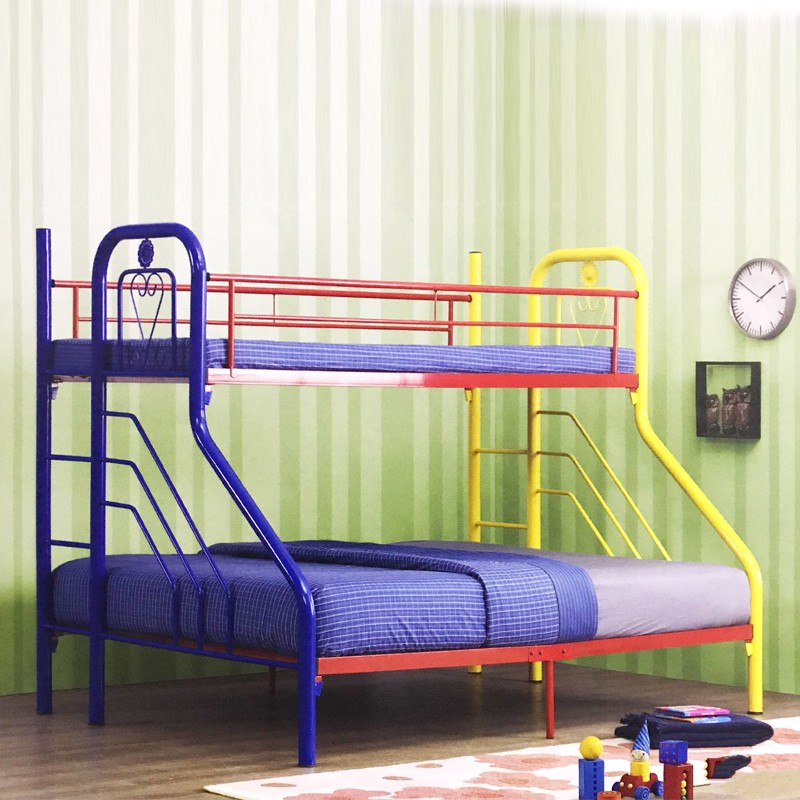 Furniture Direct AMENIA SINGLE OVER QUEEN METAL BUNK BED