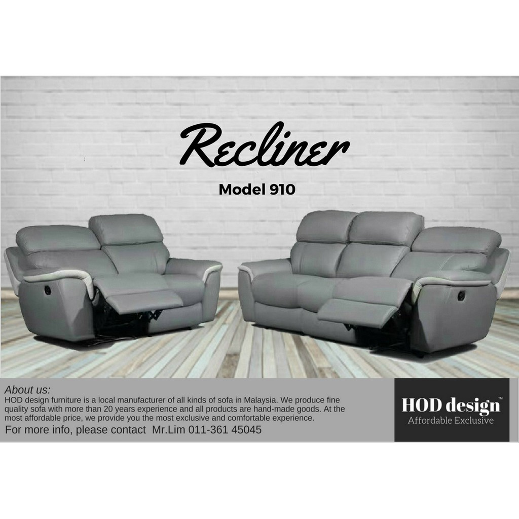 Magnificent Leather Fabric Recliner Sofa 1 2 3 Hari Raya Haji Promotion Pabps2019 Chair Design Images Pabps2019Com
