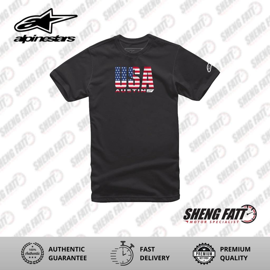 Alpinestars Circuits Tee Casual Unisex T-shirt (Black/ USA Version)