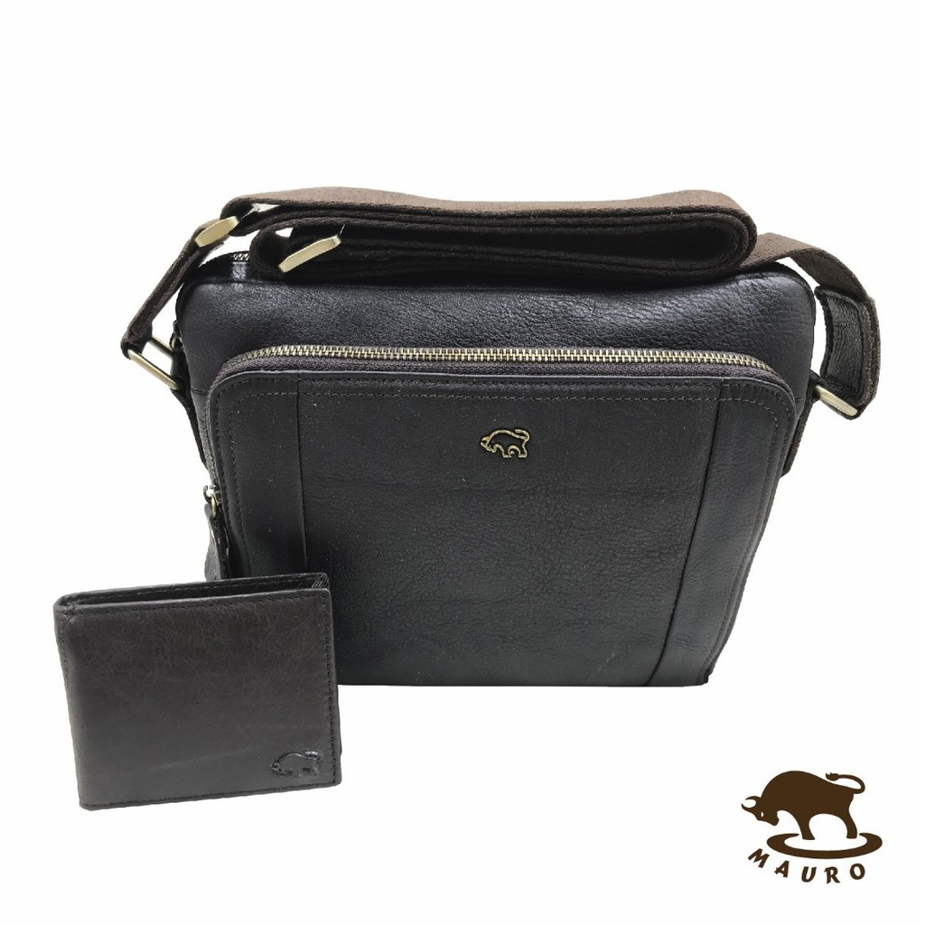 2 in 1 Mauro Genuine Leather set 4 Sling Bag with wallet.