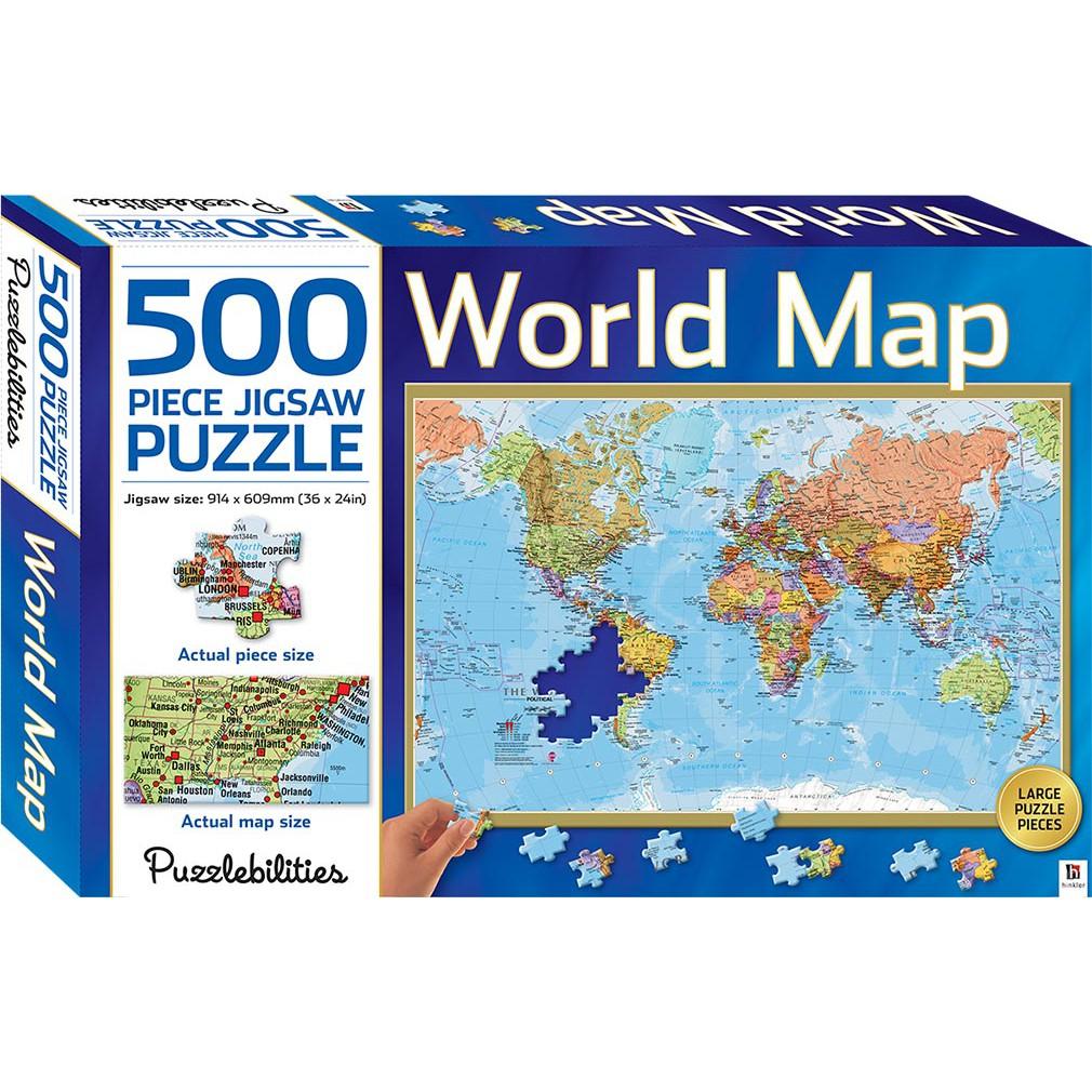 500 Piece Jigsaw Puzzle - World Map
