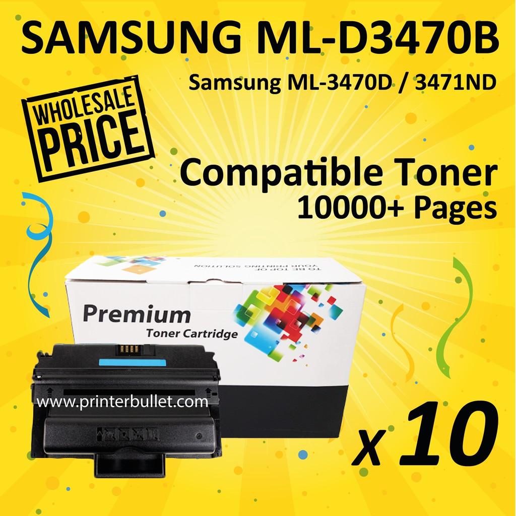 10 unit Samsung ML-D3470B / MLD3470B Compatible Toner Cartridge