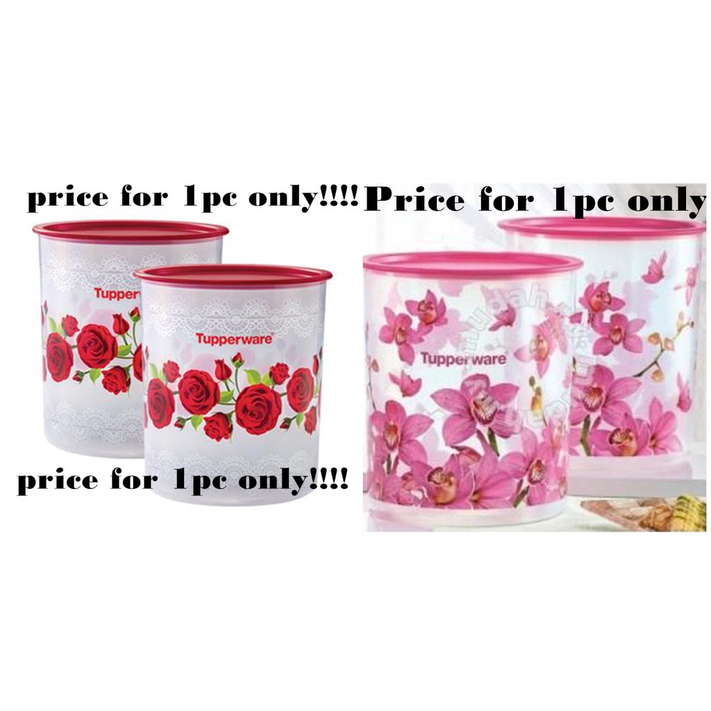 Tupperware Royal Red Rose/Orchid One Touch Maxi Canister (1pcs)* 4.3L