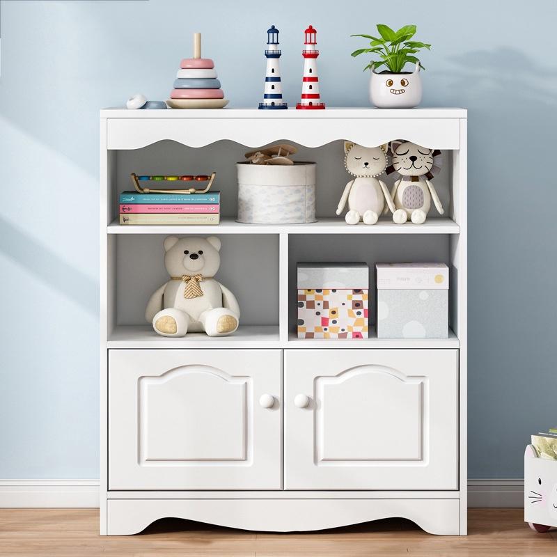 GDeal Kids Book And Toys Storage Organizer Decorative Border Children Bookcase With Drawer