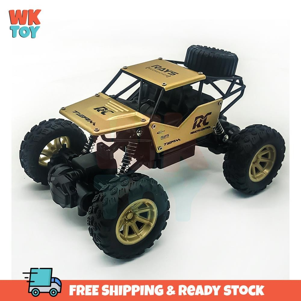 WKTOY RC Car 1:18 Rock Crawlers Alloy Monster Truck Rally Climbing Car Off-road Remote Control Car Toys