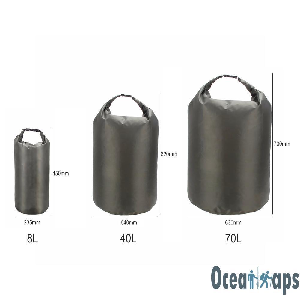 Kayak Canoe Sporting Goods 3pcs 8L+40L+70L Waterproof Dry Bag Canoe Kayak Boating Swimming Floating Sack