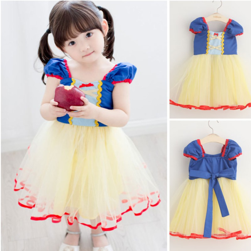 Christmas Dinner Dresses.Children S Princess Snow White Christmas Dinner Dresses Girls Costume Dress
