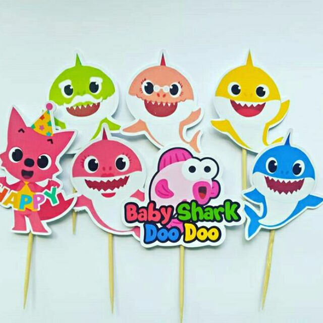 25 Pc Baby Shark S Sticker Or Tagging Shopee Malaysia