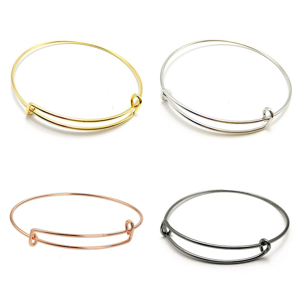 Deal Fashionista 6 Pc Inspired Expandable Bangle Adjustable Charm Bracelet
