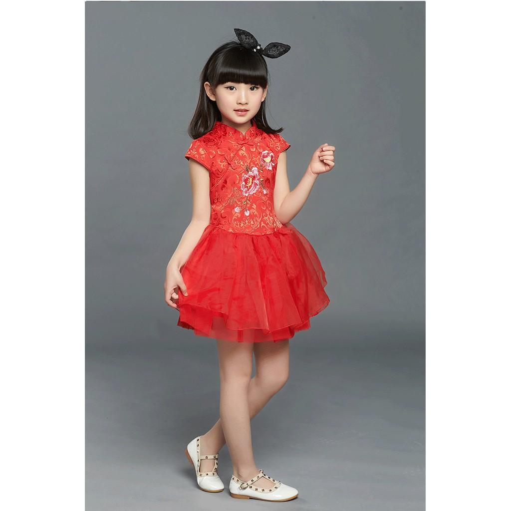 Mylilangelz KC2467 Chinese New Year Dress - Peony Blossom Tutu Skirt (READY STOCK)