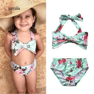 179b048864 JL_Girls Toddler Kids Dot Pattern Swimwear Bikini Swimsuit Swimming ...