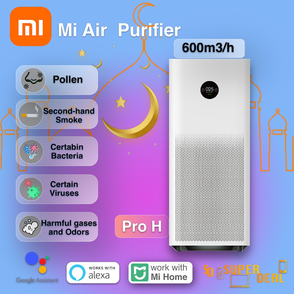 (GLOBAL) XiaoMi Mi Air Purifier Pro H (Powerfully eliminates formaldehyde /Efficiently filters out bacteria,viruses)