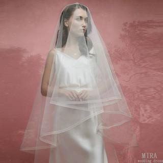 White Veil Long Wedding Gown Yarn Short Korean Version Of The Simple Retro 2 M