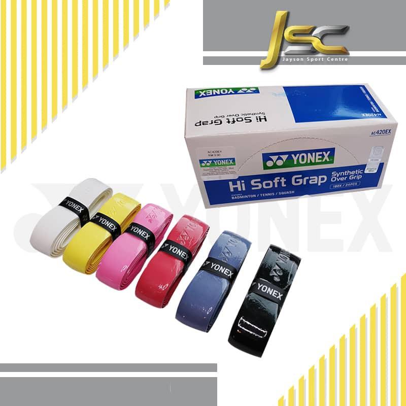 YONEX Badminton Cushion Grip - AC-420-EX Hi-Soft Grap PU Grip (100% Authentic)