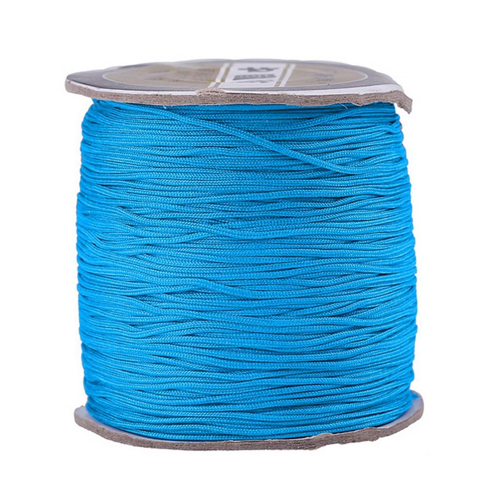 Knotting Bracelet Cord 10M Sea Blue Rattail Cord 2mm Jewellery Making Cord. Macrame Beading Cord Braiding Kumihimo Shamballa