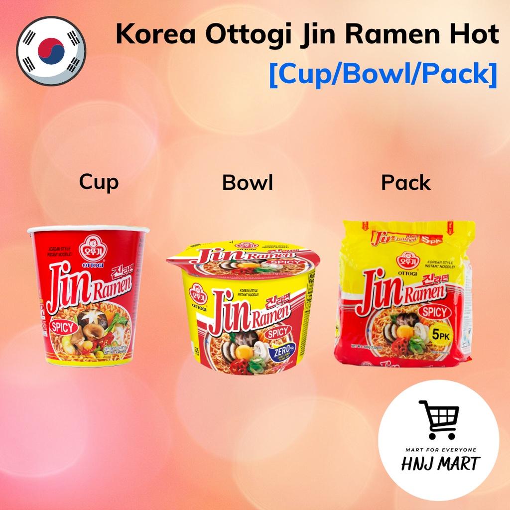 Korea Ottogi Jin Ramen Hot Spicy [Cup/Bowl/Pack] Ramyun Noodle